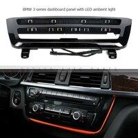 1 компл. Dashaboard Панель с двойной Цвета светодио дный Атмосфера лампы для BMW 3 серии F30 F35 автомобилей