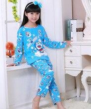 New Sale 2017 Autumn&Spring Baby Sleepwears Suits Lovely Gilr Pajamas Children Pyjamas Girls Cartoon Pijamas Kids Clothing set
