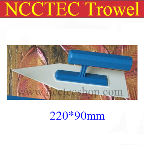 [sharp head] NCCTEC plastic trowel FREE shipping220*90mm Art paint batch knife diatom mud plastering trowel wall spatula tool