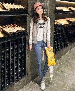 Image 3 - ฤดูใบไม้ร่วงเบสบอล BOMBER แจ็คเก็ตสตรี Windbreaker เสื้อกันหนาว Harajuku Streetwear Coat Casaco Feminino chaqueta mujer jaqueta