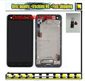Black with frame LCD Display + Digitizer Touch Screen FOR HTC Droid DNA X920e Butterfly (Verizon Logo) Assembly flex cable