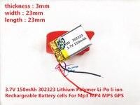3,7 в литиевая аккумуляторная батарея 302323 032323 150 мАч литий-полимерная батарея Bluetooth Батарея