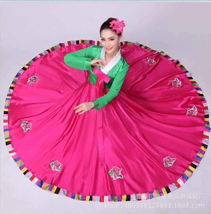 The new 2017 Korean adults full-skirted dress costumes South Korean traditional dance han2 fu2 women minorities clothing