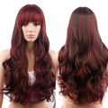 28In Red Ombre Wig False Hair Synthetic Wigs for Black Women Long Body Wave Cheap Wigs for Women Jenner Grey Wig Female Hair