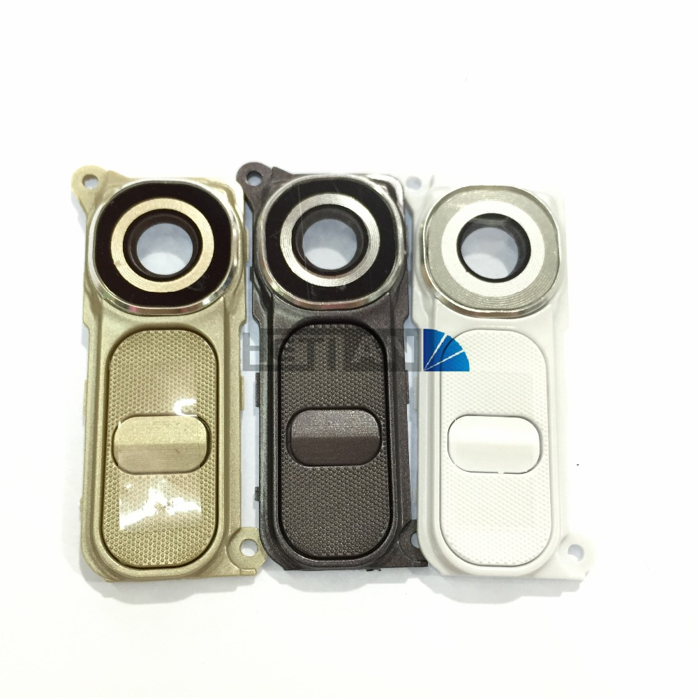 Rear Back Camera Lens Big Camera Glass Lens Cover With Frame With Button Replacement For LG G4 H810 H811 H815 F500 image