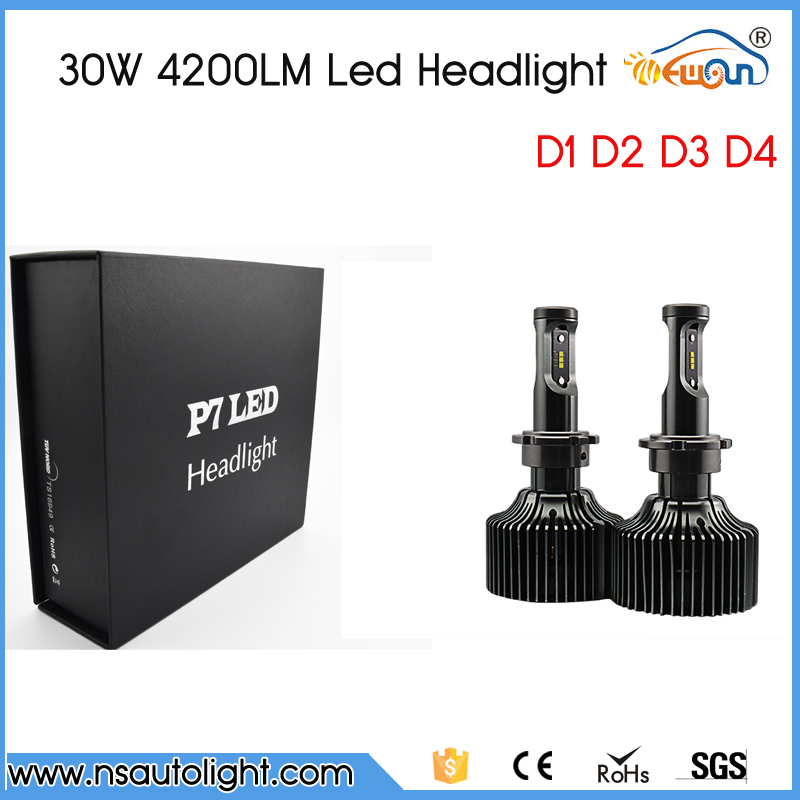 ФОТО 1Set 2016 New 30W 4200LM Each Bulb LED Headlight  HID Xenon Replacement D1 D2 D3 D4 Free Shipping