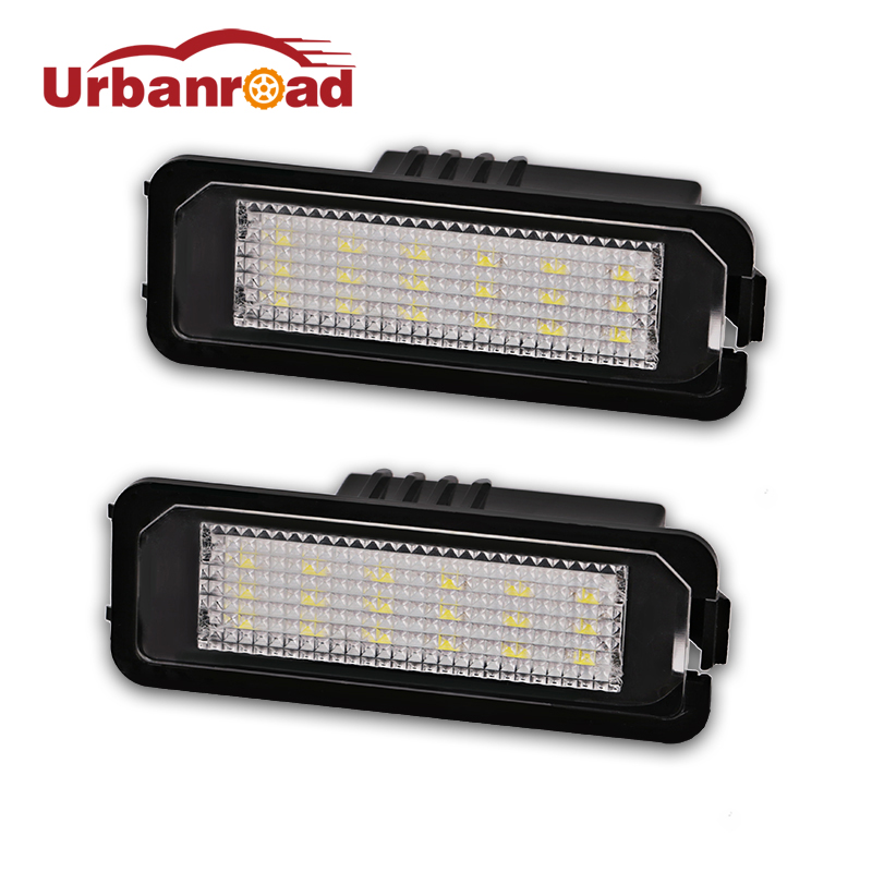 2PCS For VW Led License Plate Light Lamp SMD3528 Number License Plate Light For Volkswagen CC Golf 4  5 6 GTI R32 Scirocco 987 cawanerl car 2835 smd canbus interior dome map trunk license plate glove box light led kit white for vw volkswagen golf 6 gti