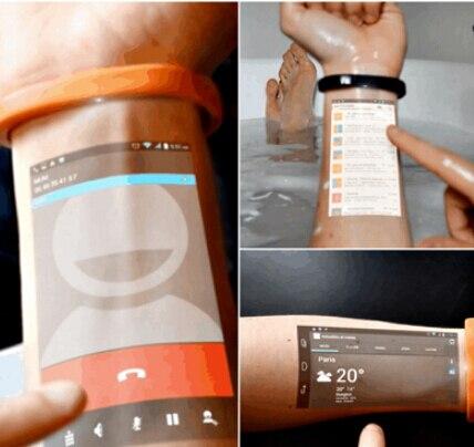 Продажа Cicret смарт браслет интеллектуальный проекционное оборудование на руке браслет смартфонов EMS