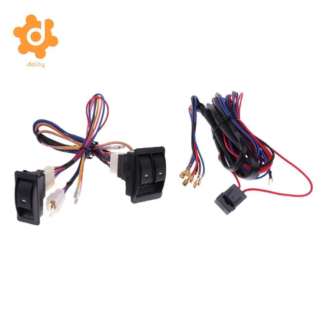 Dolity 3 Pieces Car Electric Power Window Master Control