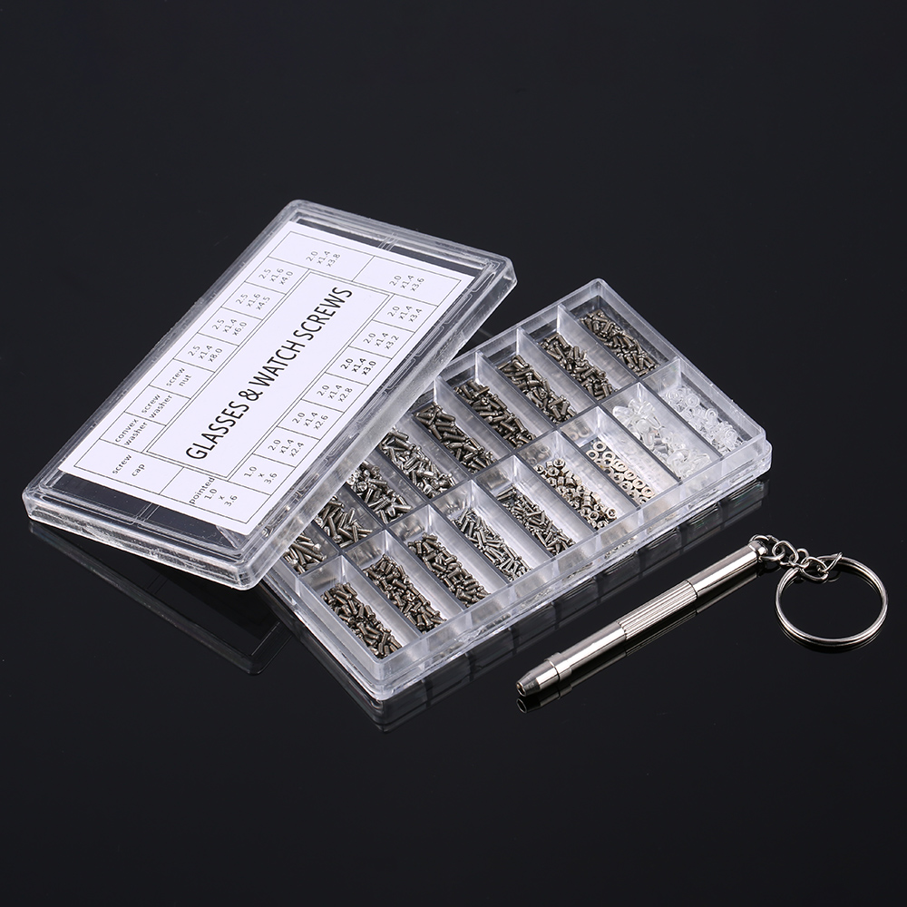 Micro Glasses Sunglass Watch Spectacles Phone Tablet Tiny Screws Multifunctional Nuts Screwdriver Repair Tool Set Kits 147 pcs portable professional watch repair tool kit set solid hammer spring bar remover watchmaker tools watch adjustment