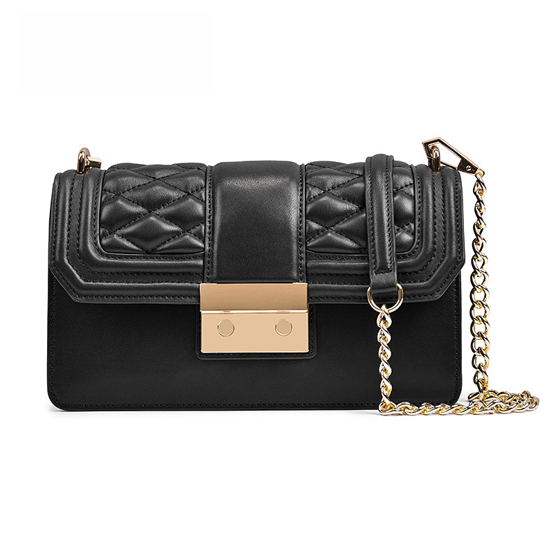 2018 NEW Genuine leather women's Shoulder bags Fashion Casual Brand Chain Crossbody Handbags Luxury designer Large Capacity bag