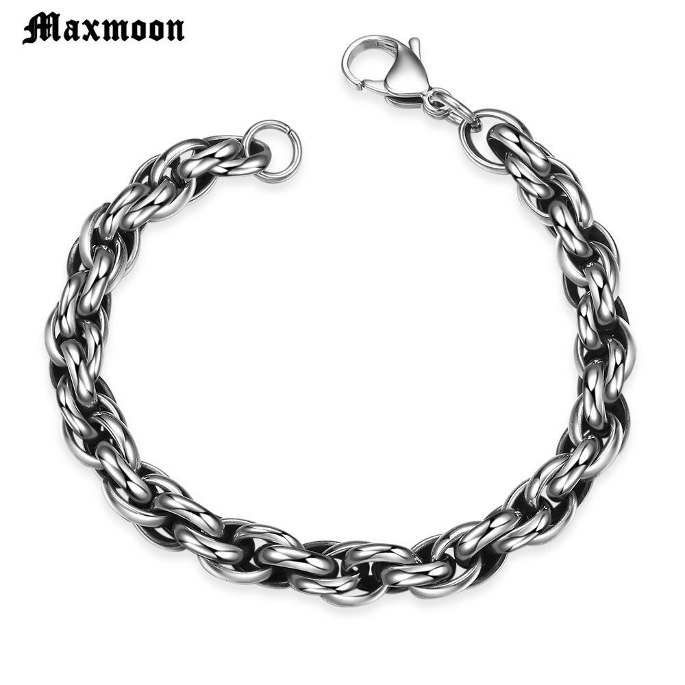 Maxmoon Bracelet Men Chain...
