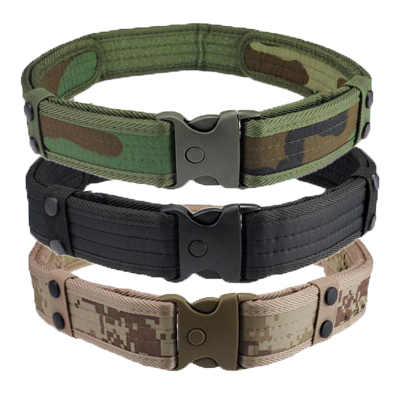 NEW Men Belts Luxury Woodland Camo Waistband Tactical Military Hunting Accessories High Quality