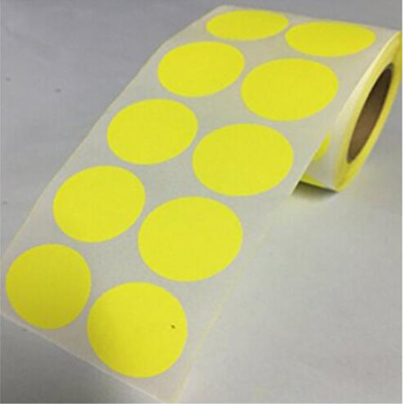 Smart Sticker label 1 Inch Round Blank yellow Self-adhesive and removable promotional gift label repair sticker of targets