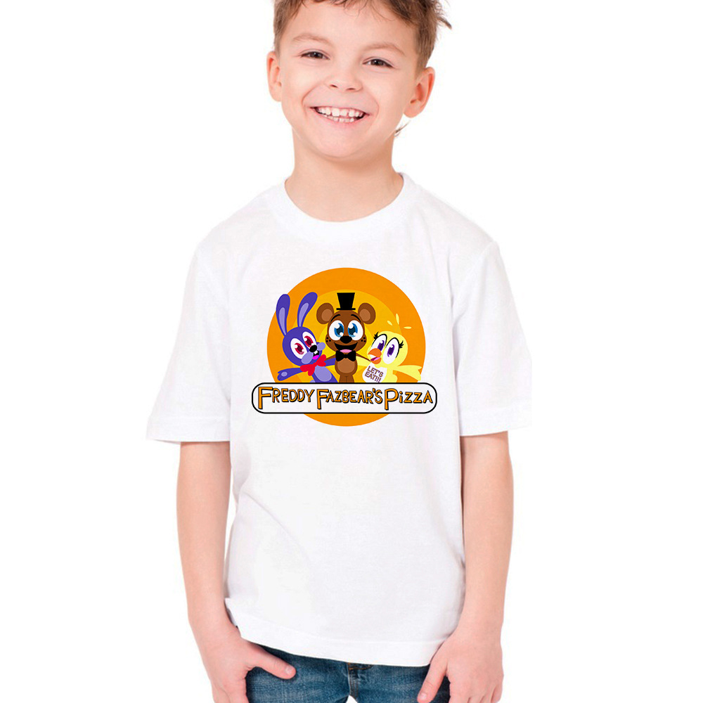 T-Shirt Kids Tops Funny Baby-Boys-Girls Children Cartoon Summer At Five-Nights 5-Freddys