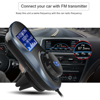 Bluetooth FM Car Audio Transmitter Mp3 Player Wireless Car FM Modulator Hands free Bluetooth Car Kit with LCD Display