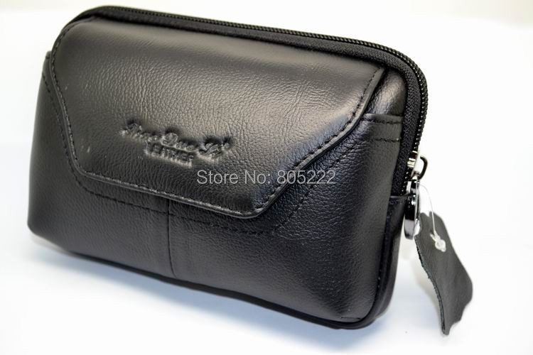 Free Shipping Original Leagoo Lead 5 5inch Phone Flip Universal Horizontal Genuine Leather Belt Pouch Bag