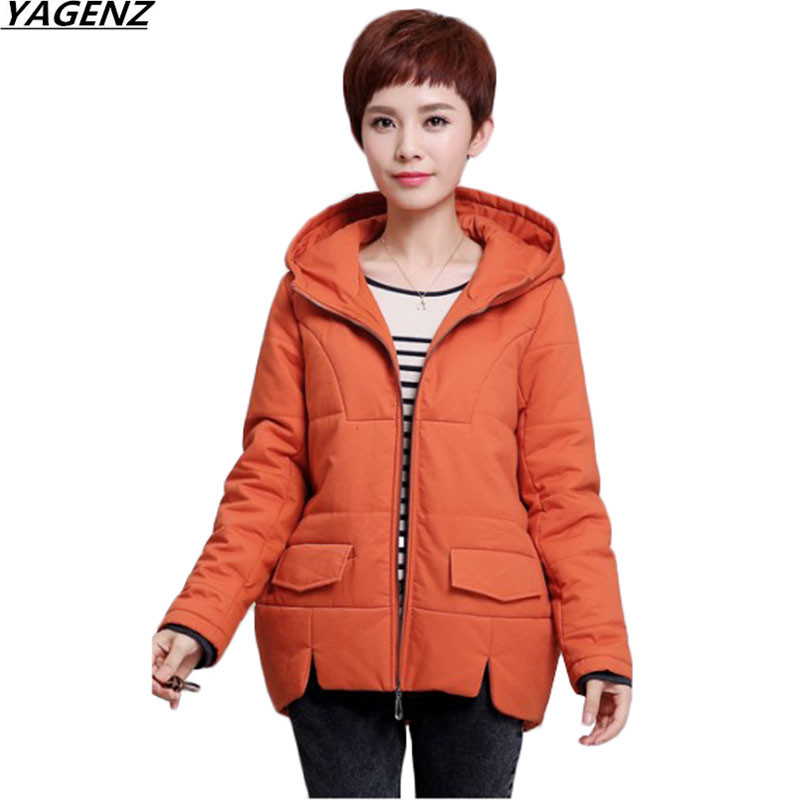 Plus Size 5XL Women's Coat Winter Jacket Middle Age Mother Clothes Thicken Warm Cotton Parkas Hooded Outwear Female YAGENZ K604 2015 new hot winter thicken warm woman down jacket coat parkas outerwear hooded loose straight luxury brand long plus size xl