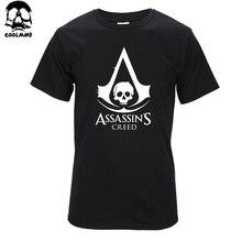 Высокое качество Хлопка мужская футболка с коротким рукавом Футболка повседневная мода футболка мужчины assassins creed печати футболка T01