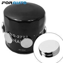 FORAUTO 2 шт. магнит топливный экономайзер масляный фильтр для двигателя автомобиля ATV SUV мотоцикл моторное масло для железного тела сильная Адсорбция