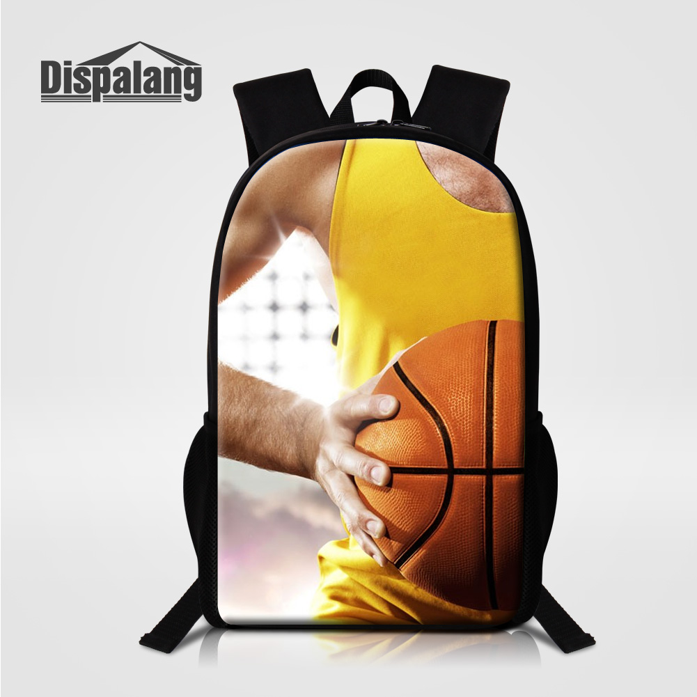 Dispalang High Quality Oxford School Backpack For Teenage Boys Basketballs Printed Schoolbag For Middle School Rucksack Bagpacks