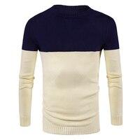 Свитер Для мужчин трикотажный пуловер Одежда Демисезонный Новое поступление человека, в стиле пэчворк базовые свитера с круглым вырезом Дл...