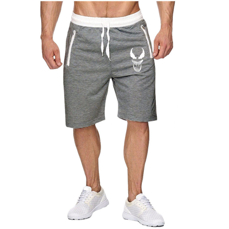 2019 New Fashion Mens Cropped Sweatpants Outdoors Cotton Jogger Casual Venom Bodybuilding Shorts Men Summer Shorts