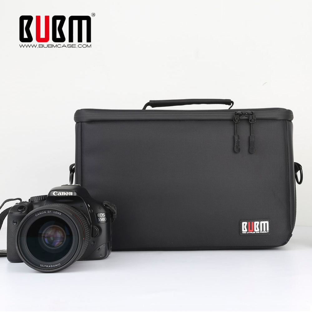 BUBM Soft Padded Camera Equipment Bag / Case SLR/DSLR Camera Bag Video Padded Carrying Bag lens Insert Bag for Camera and Lens