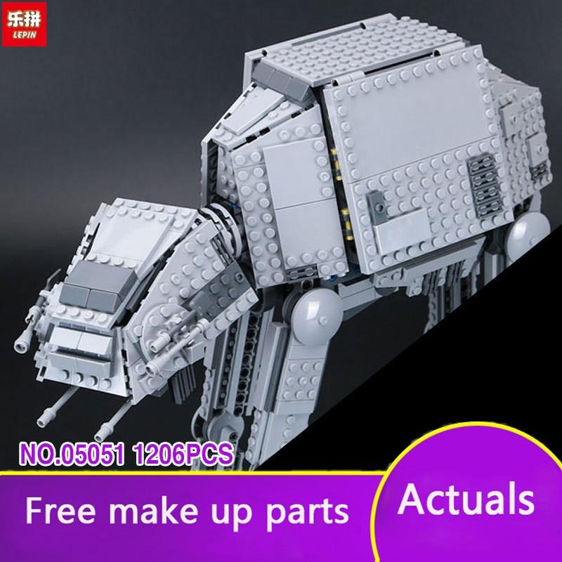 Lepin 05051 Star Series Wars Force Awaken AT-AT Transportation Armored Robot Children Building Blocks Bricks 75054 Toys LP055 urban transportation sections at minus
