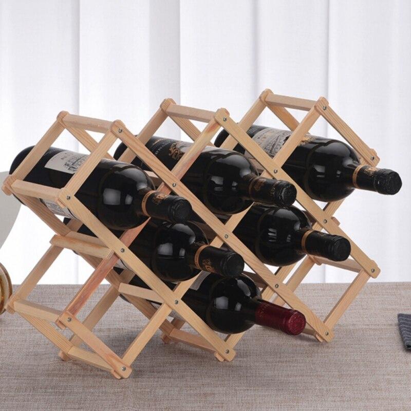 kchain diy wood wine rack 10 bottles
