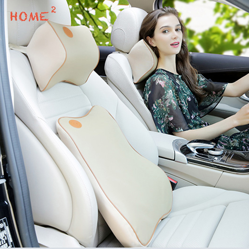 car seat support memory cotton headrest massage lumbar cushion pillow  renault dodge skoda