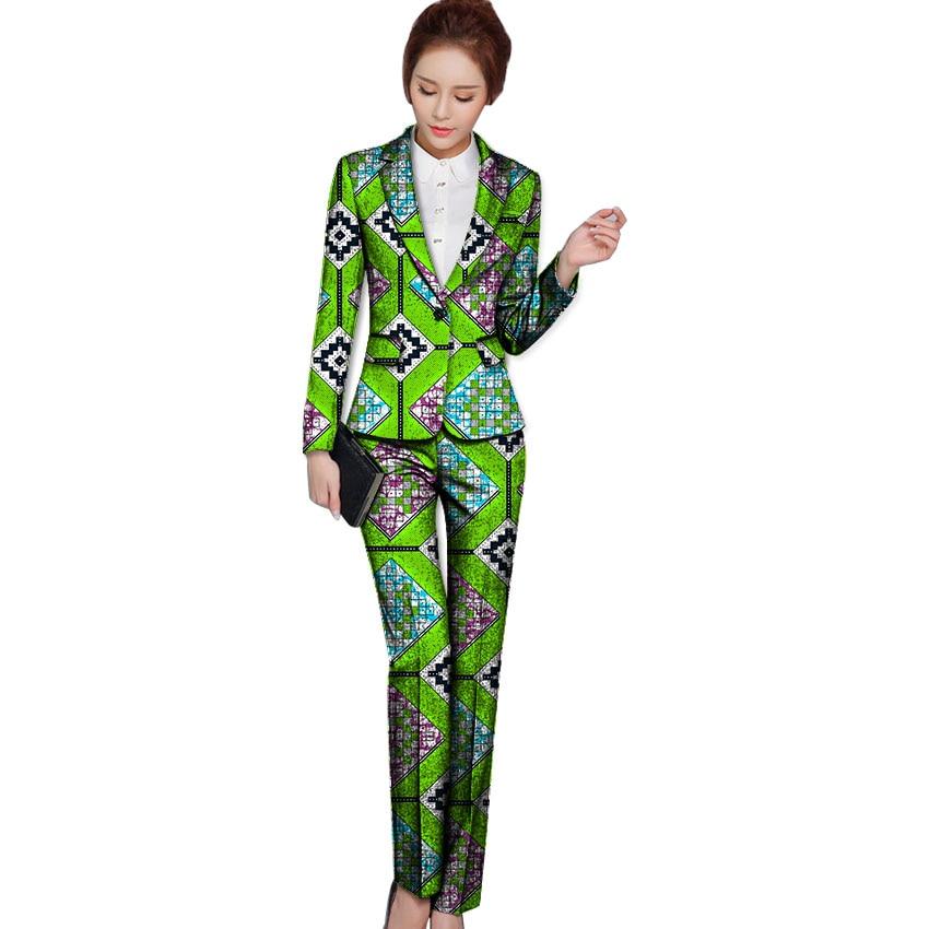 Ausverkauf African Fashion Print Frauen Blazer und Hosen Set elegante - Damenbekleidung - Foto 1