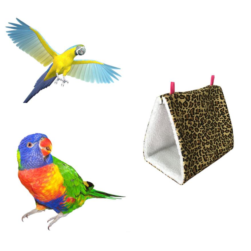 Bird Supplies Pet Products Triangle Square Plush Nest Bird Parrot Hanging Cave Hammock Cage Warm Bed Toy Selected Material