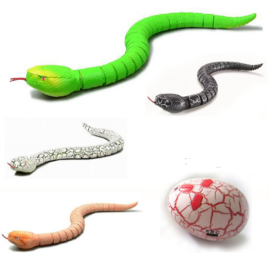 New Infrared remote control rattlesnake Super simulation animal Remote control snake RC wireless animal toys snakes