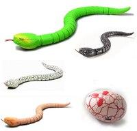 Nuevo control remoto por infrarrojos de cascabel simulación estupenda animal serpiente de control remoto RC inalámbrico animales juguetes juguete serpentea