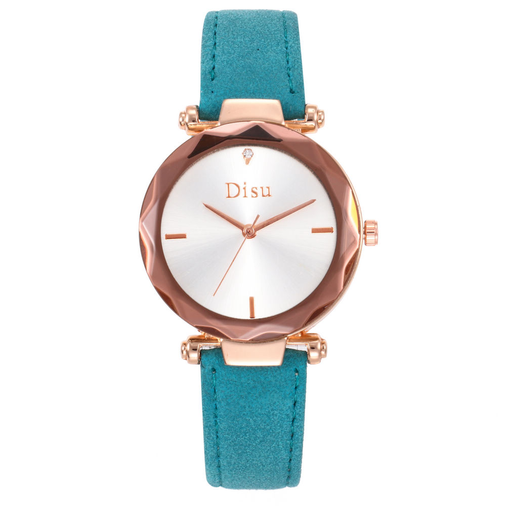 DISU New Fashion Concise Clock Female Quartz Leather Rose Gold Dial Magnetic Women Watches Casual Quartz Wrist Watch Reloj Mujer