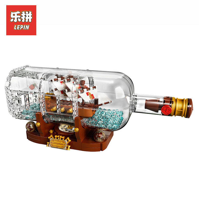 все цены на Lepin 16051 Creative Pirates of the Caribbean Pirates Series LegoINGly 21313 bottles in the boat Mode Building Blocks Bricks toy