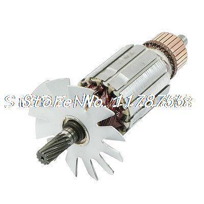 AC 220V 12 Teeth Shaft Motor Armature Rotor for Makita 9105 Straight Grinder electric cutting machine armature part motor rotor ac 220v for makita 3612br