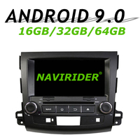 Navirider GPS navigation For MITSUBISHI OUTLANDER II touch screen Car DVD android 9.0 64gb rom radio bluetooth player stereo