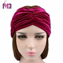 2017 Women Fashion Velvet Headband Twist Elastic Hair Band for Women Ladies Stretch Turban Headband