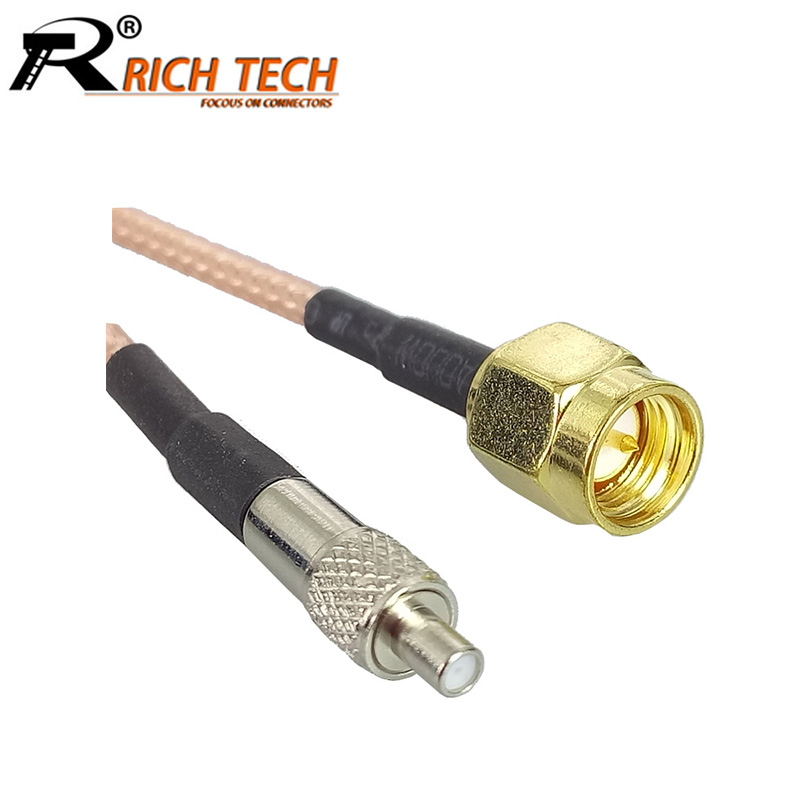 2pcs/lot TS9 Female Straight Jack to SMA Male Plug RG316 Coaxial Pigtail Cable Assembly TS9 to SMA RF Connector Extension Cable