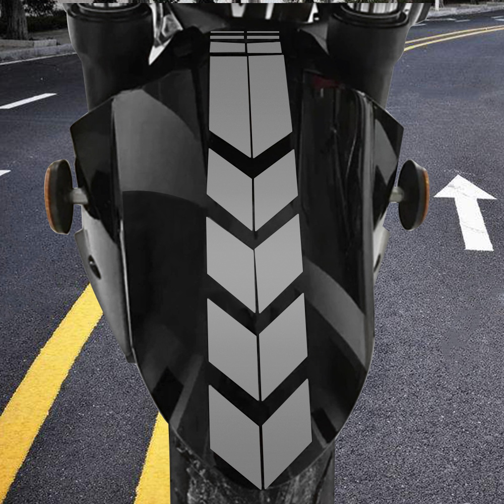 Motorcycle Reflective Sticker Moto Stickers and Decals Motorcycle Accessories Sticker On Bike Bicycle Fender Decoration motorcycle sticker fashion human evolution motorcycle car stickers fun reflective vinyl decals black silver for lada