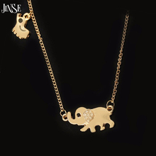 BLS204 Cute Elephant Family Stroll Design Fashion Women Charming Crystal Chain Necklace Chocker necklace