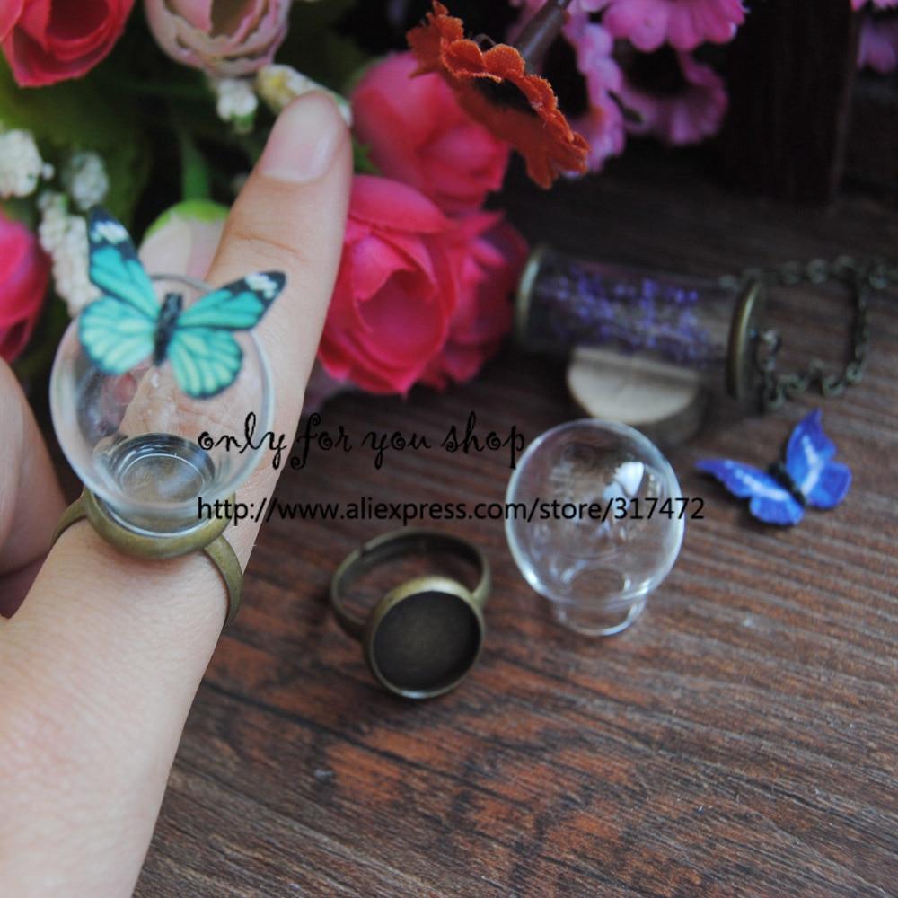웃 유Envío Gratis! 20*12mm burbuja de cristal y anillo set DIY ...