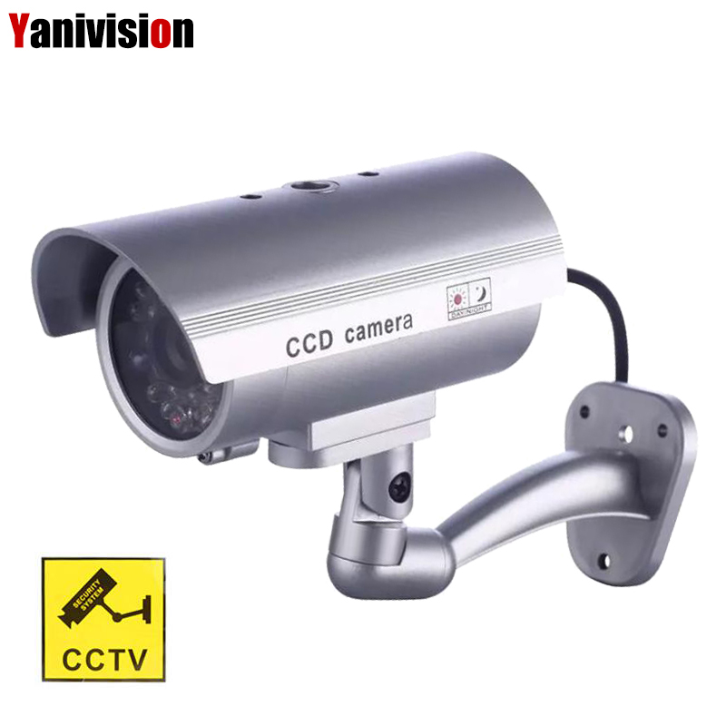 все цены на Fake Dummy Camera Bullet Waterproof Outdoor Indoor Security CCTV Surveillance Camera Flashing Red LED cctv camera fake security