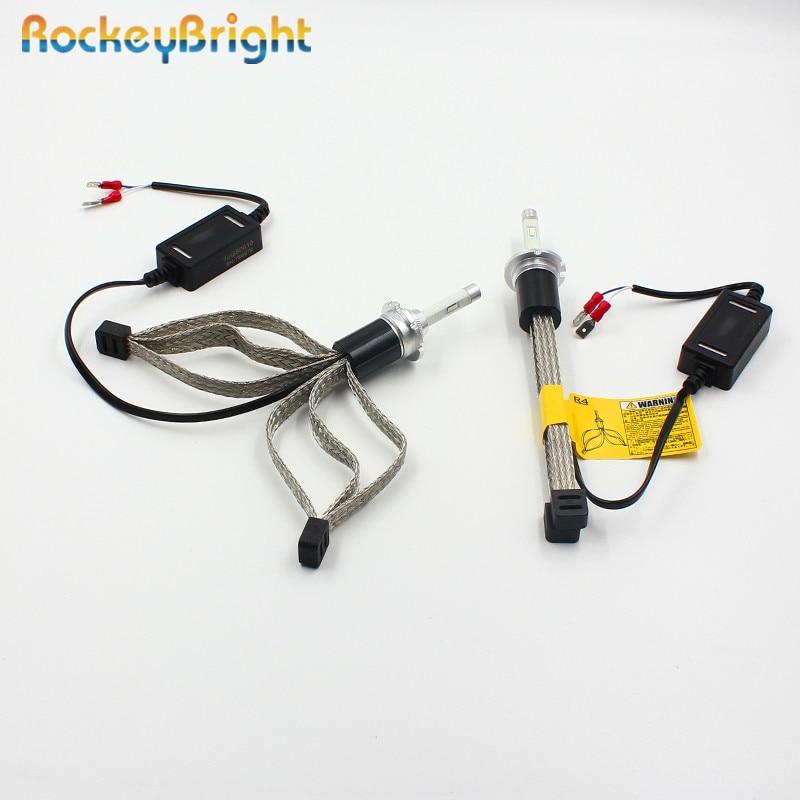 Rockeybright D2S Led Headlight Car 7600lm Fog Light Kit R4 LED Lamp Xenon D2C LED Bulb D2S D2R auto motorcycle car LED Headlight