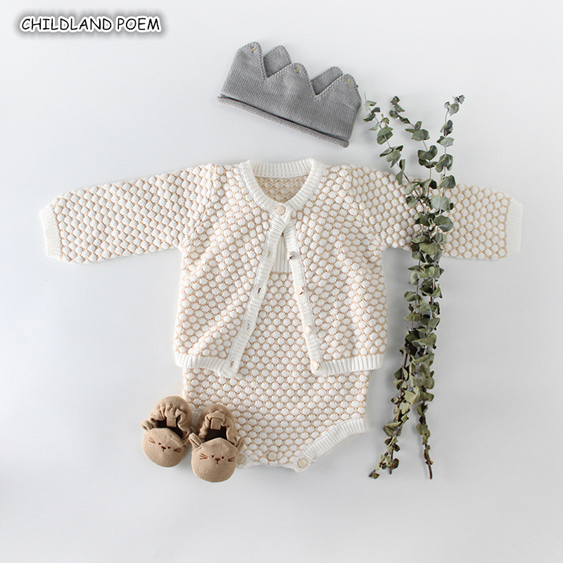 Baby Knitted   Romper   Autumn Winter Baby Girls Clothes Cotton Baby Girl   Romper   Cardigan Newborn Baby Clothes For Girls Jumpsuit