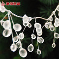 2016 New Christmas Festival Decoration White Frosted Transparent Grape-shaped Silver Wire 140cm Chain Christmas Tree Decoration