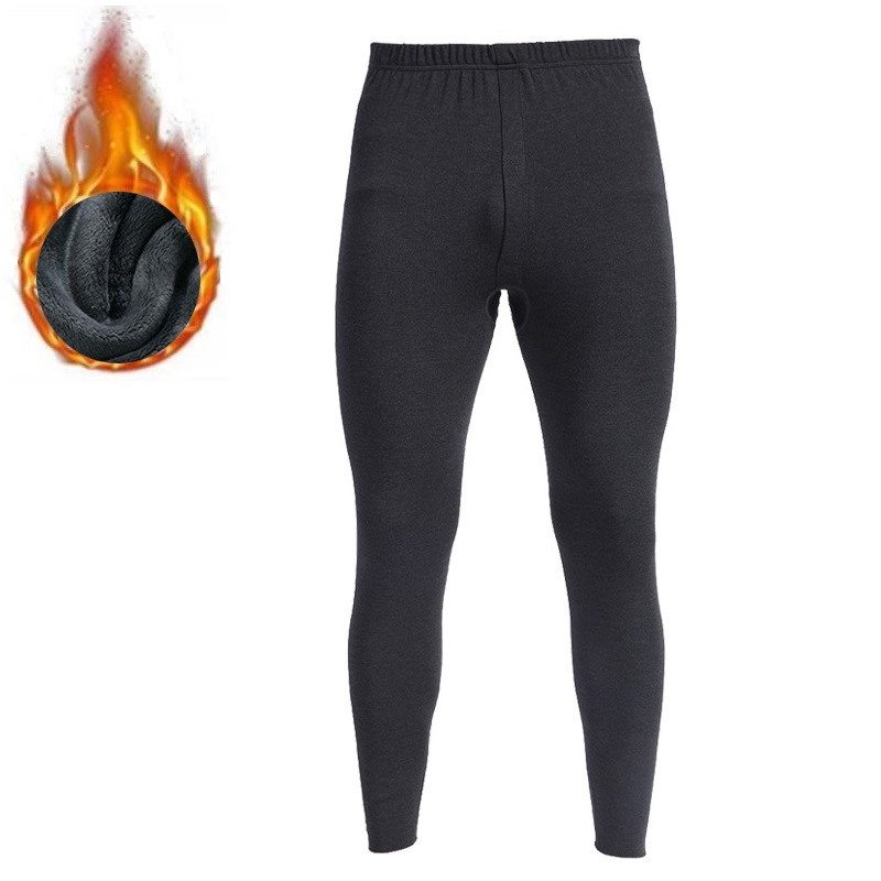 2018 New Thermal Underwear Pants And Underwear Shirts Thick Fleece Men Leggings Keep Warm In Cold Winter Days