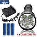 Мощный Портативный Съемный Фонарик 6T6 10000 люмен светодиодный фонарик факел CREE XML XM L T6 3 18650 Аккумуляторная Батарея